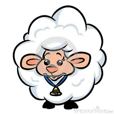Sheep wool cartoon illustration  image animal character