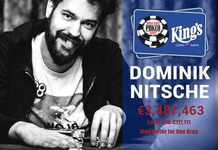 Покерный игрок Доминик Ницше выиграл на WSOP 2017 €3.5 млн.  #NewsOfGambling #Новости_покера #Новости #Покер #WSOP #NOG