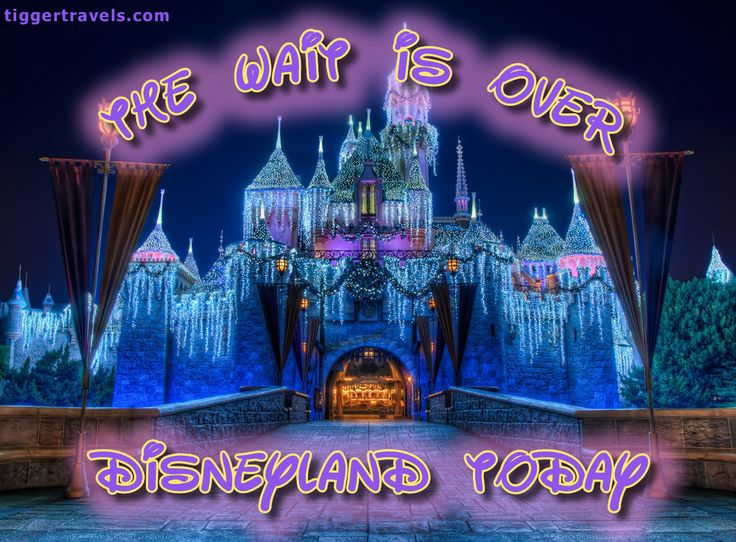 Days till Disney: 0 days! The wait is over! Disneyland TODAY! -  #TTDAVCDN Count down to YOUR next Disney vacation at: http://www.tiggertravels.com/  #disneycountdown #vacationcountdown  #Disney #vacation #TiggerTravels #TiggerTravelsSite #TiggerTravelsDotCom  #TiggersTravels