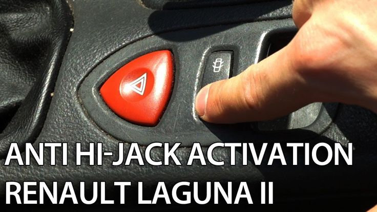 How to activate auto-locking central lock in Renault Laguna II (enable anti-hijack)