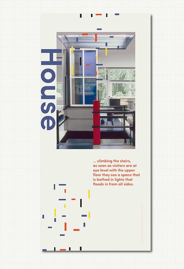Gerrit Rietveld Posters #Modern #Architecture #Schroderhouse #Stairs #Design #Archdaily