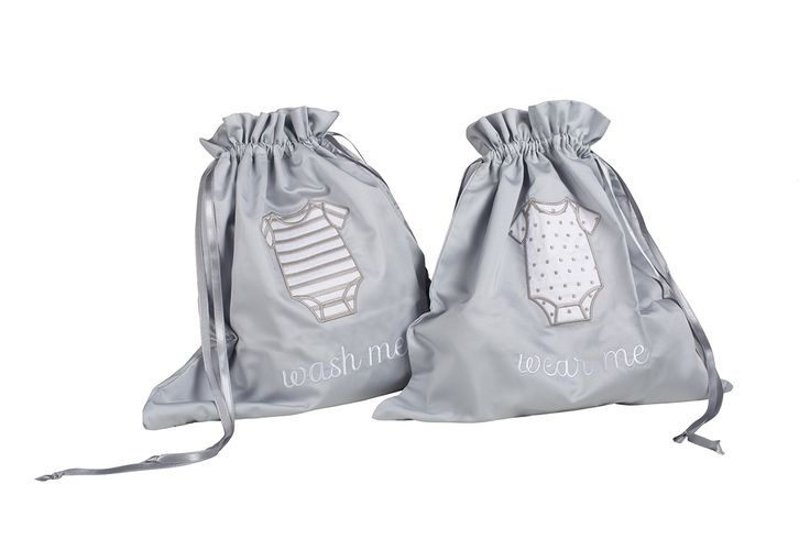 "Petite Vigogne Travel Laundry Bags. 100% Pima cotton. ""To wear' & lined ""To wash"" bags."