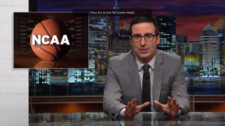 Phuck the #NCAA n**ga. Let a young N**ga get paid!!Last Week Tonight with John Oliver: The NCAA (HBO)