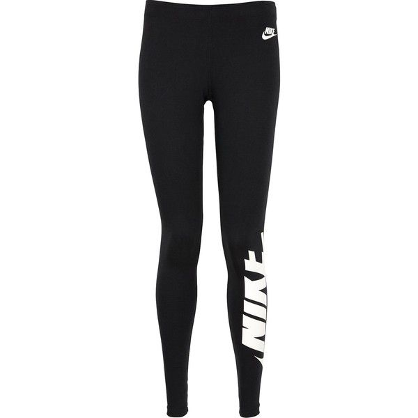 Nike Sportswear Irreverent Legging ($31) ❤ liked on Polyvore featuring pants, leggings, regular fit pants, nike, nike trousers, legging pants and nike pants