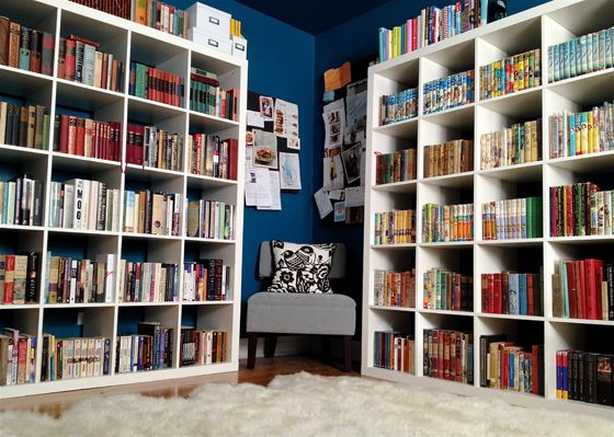 65 best library images on pinterest bookshelves bookcases and shell half of my library malvernweather Image collections