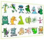 A monster matching game, a listening/drawing activity....some great lead-ups to a descriptive paragraphs my students will be working on!
