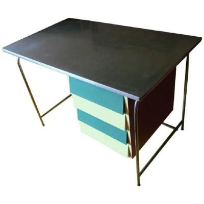 Mid-Century Italian Tubular Steel & Formica Desk for sale at Pamono