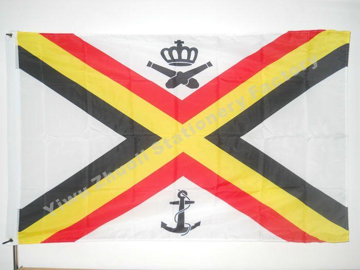 Военно-морской Прапорщик Бельгия Флаг 150 Х 90 см (3x5FT) 120 г 100D Полиэстер Двойной Прошитой Высокое Качество баннер Ensign Бесплатная Доставка