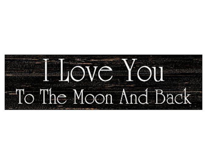 Ik hou van je naar de maan en terug  String kunst  maan