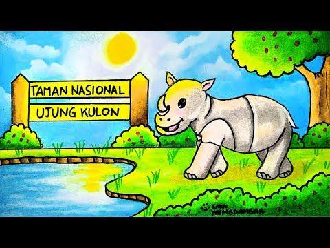 Cara Menggambar Tema Hewan Fauna Langka Badak Jawa Badak Bercula Satu Di Ujung Kulon Ep 227 Youtube Cara Menggambar Hewan Gambar