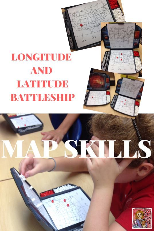 Battleship longitude and latitude game! Practice map skills by printing and attaching the U.S. map (download map from the blog post), great for upper elementary