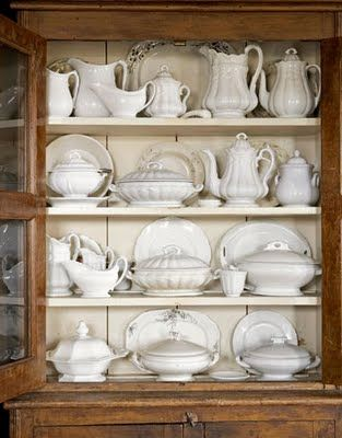 White Dishes ~ Inspirations - I have been scouring flea markets and thrift stores, keeping an eye out at Ross, Target and Home ...