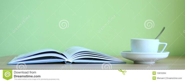 A cup of coffee and one book