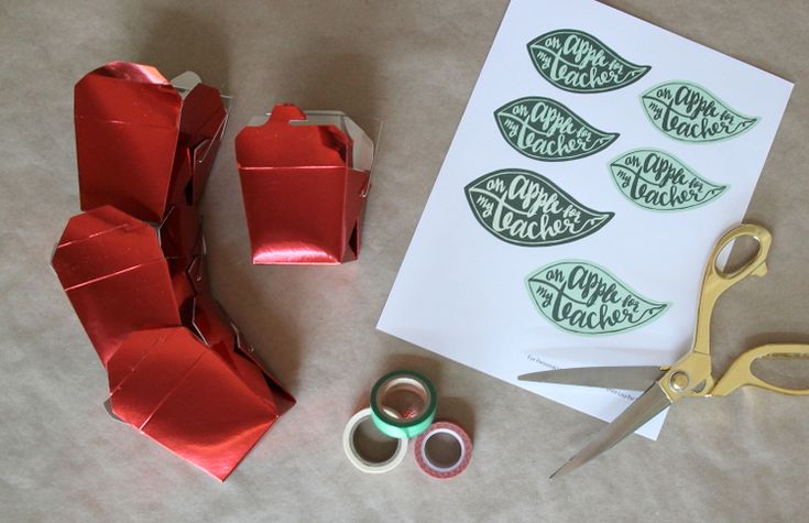 DIY Teacher Gifts: Apple Gift Boxes with Printable