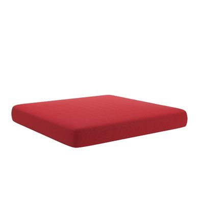 Longshore Tides Outdoor Ottoman Cushion Fabric: Red