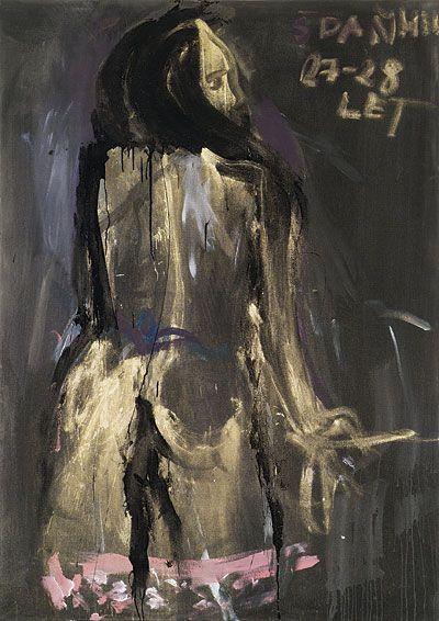 Jakub Špaňhel, Veronika, 2004, 135 x 90 cm, akryl na plátně