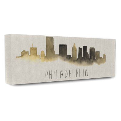 Stupell Decor Philadelphia Skyline Silhouette Canvas Wall Art - CW-1239_CN_10X24