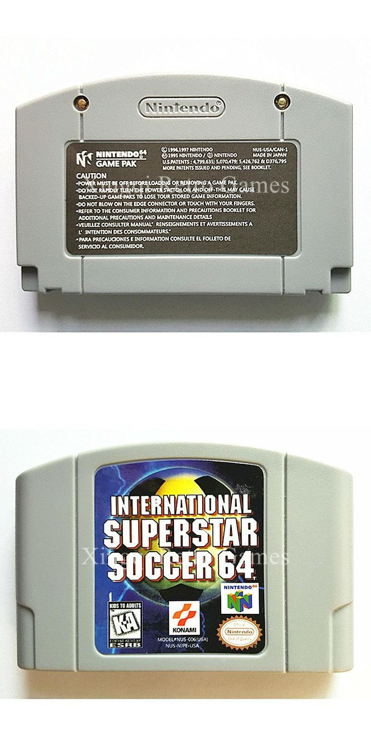 Nintendo N64 Game International Superstar Soccer 64 Video Game Cartridge Console Card English Language US Version