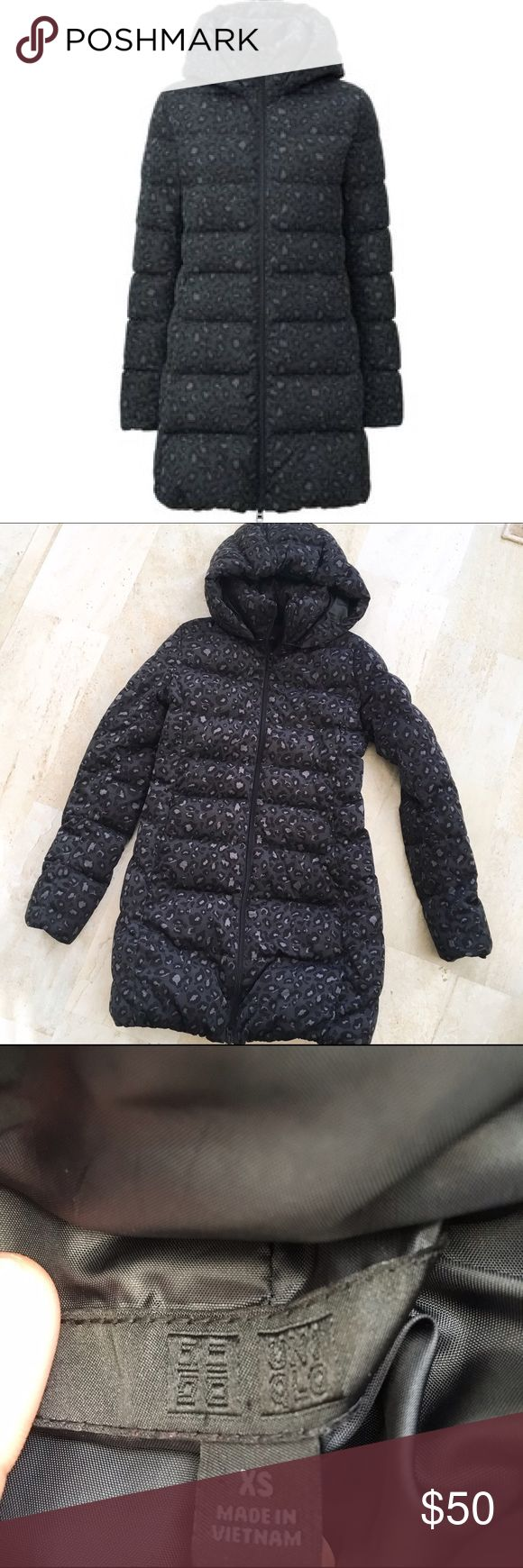 Uniqlo Leopard Puffer Down Coat This is a NWOT Uniqlo Leopard Puffer Jacket. In excellent condition. Runs true to size. Made of polyester down. Reasonable offers accepted. Uniqlo Jackets & Coats Puffers
