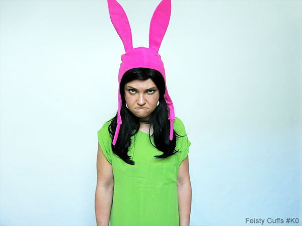 Feisty Cuffs as Louise Belcher from Bob's Burgers.  Louise is my favourite character from the show.  Check out more of cosplays at www.facebook.com/feistycuffs Picture by Feisty Cuffs