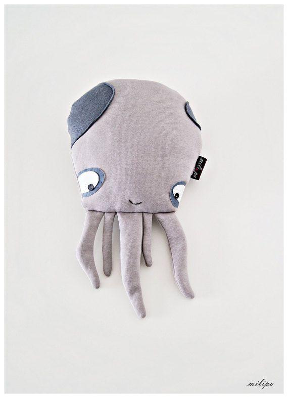 """BABY-OKTOPUS, Oktopus-Kissen, Kuscheltiere, Kinder Geschenk, Gefüllter Tintenfisch, Stofftier, Plüsch Oktopus, gefüllte Spielzeug, Baby-Geschenk, 15""""(38cm)"""