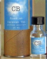 """CB I Hate Perfume Russian Caravan Tea fragrance """"Russian Caravan Tea: Described as """"Smoked black Indian tea, bergamot and the hint of shelves full of old books."""" Like Mr. Hulot's Holiday, this starts very bright. There is lots of citrus, and just a hint of black tea. Over the next few hours, the tea notes intensify and take on the dry, slightly smoky aroma that comes from a freshly opened tin of loose tea leaves."""""""