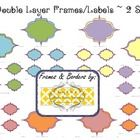 This set of FREE frames/labels contains 30 Double-Layer items in all.  I'm calling these bright pastels.