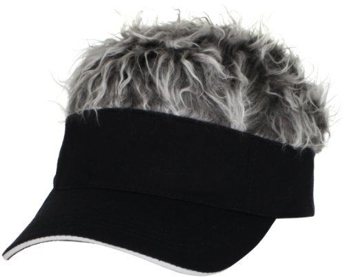 Flair Hair Men's Black Visor and Hair, Grey, One Size - http://www.mansboss.com/flair-hair-mens-black-visor-and-hair-grey-one-size/?utm_source=PN&utm_medium=http%3A%2F%2Fwww.pinterest.com%2Fpin%2F368450813235896433&utm_campaign=SNAP%2Bfrom%2BIt%27s+A+Man%27s+World