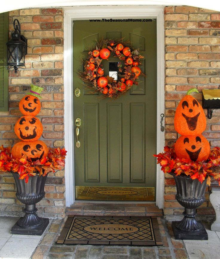 Halloween Urn Decorations 229 Best Outdoor Halloween Decor Images On Pinterest  Halloween