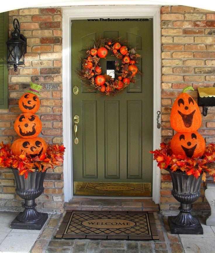 Halloween Urn Decorations Glamorous 229 Best Outdoor Halloween Decor Images On Pinterest  Halloween Decorating Inspiration