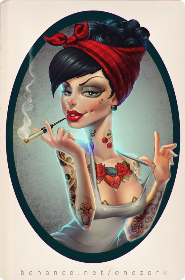 that tattooed girl on Behance
