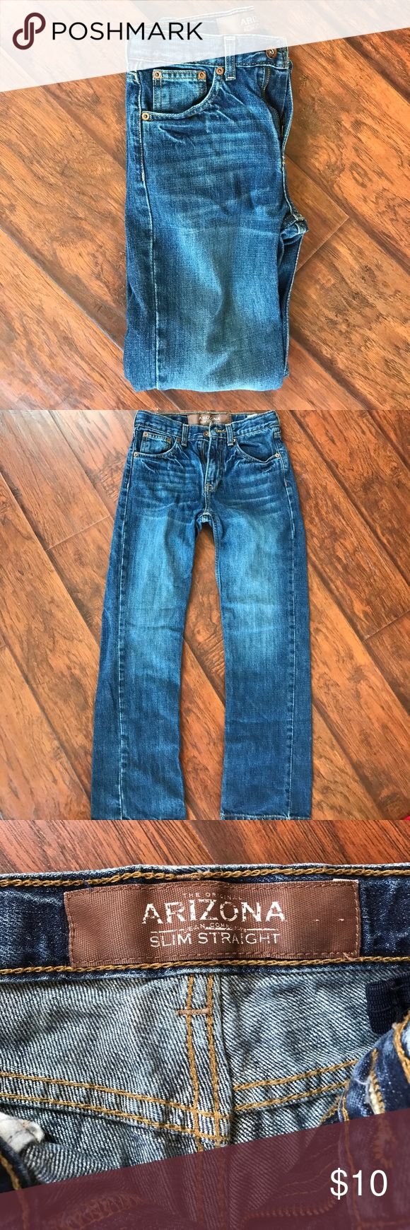 Boys Arizona jeans 12 slim Boys Arizona jeans size 12 slim with adjustable waist Arizona Jean Company Bottoms Jeans