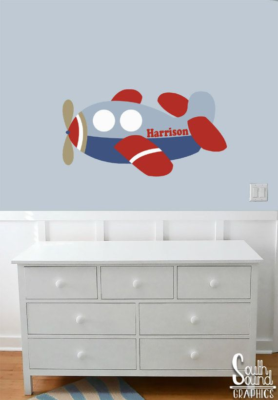 Fabric Wall Decal for Boys Nursery and Kids Rooms   Airplane Room Wall Decor    Plane. 17 Best ideas about Airplane Room Decor on Pinterest   Airplane