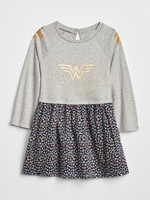 9bdac1cbc44d Gap Baby Babygap   Dc™ Wonder Woman Mix-Fabric Dress Wonder Woman ...