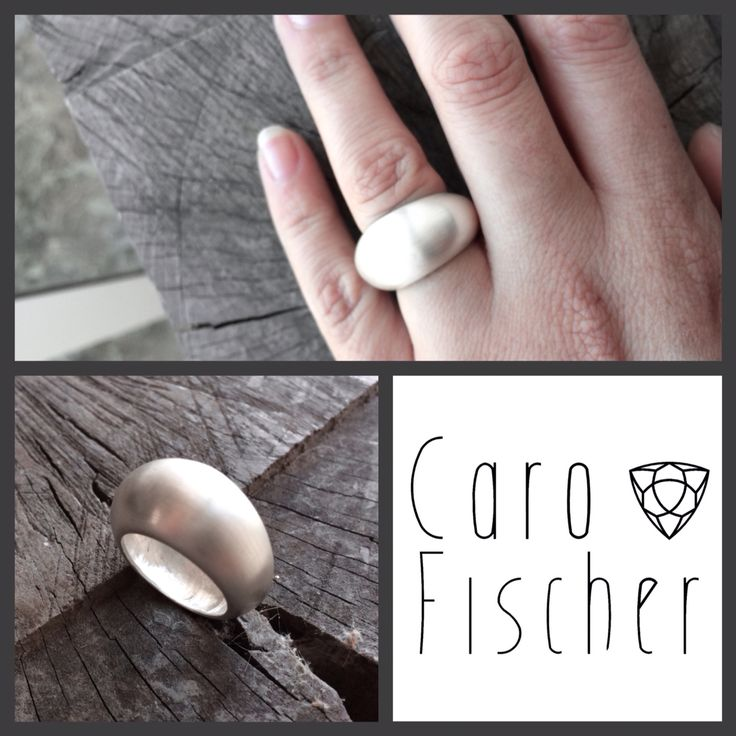 Thin bombé ring - silver :: Caro Fischer :: Joyería Contempránea de Autor :: Contemporary Handcrafted Jewelry