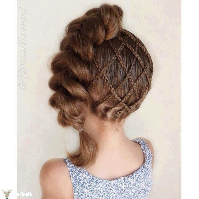 Fancy Little Girl Hairstyle with Braids