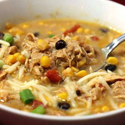 Crockpot Chicken Enchilada Soup. For your new crock pot.