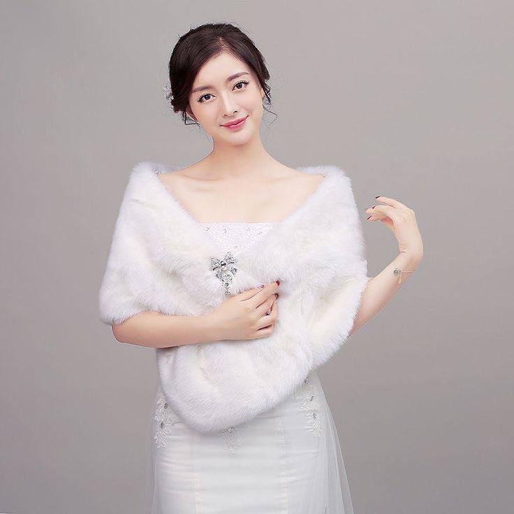 Faux Fur Children Bolero Jacket Flower Girl Bridal Wraps Wedding Shawl Cape