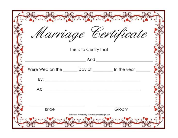 How To Get A Marriage License With Pictures: Free Blank Marriage Certificates