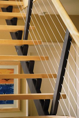 Go Contemporary with Open Stair Treads