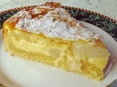 Geheime Rezepte: Birnenkuchen mit Vanilleguss