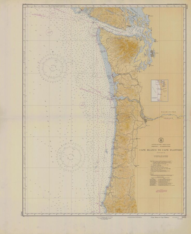 Cape Blanco To Flattery Historical Map