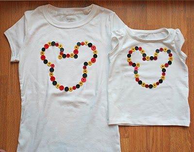 I want to make these cute shirts for me and Hailey for our next Disney trip.....whenever that might be!
