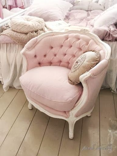 Pink chair for the bedroom