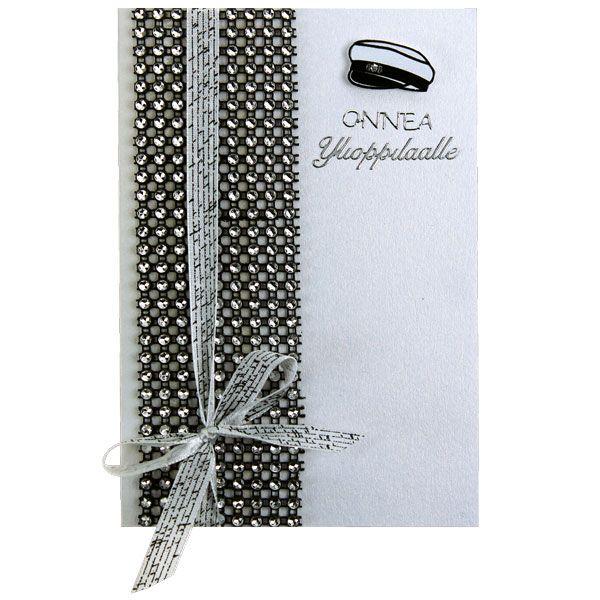 Tässä kortissa on koristeena timanttiverkkoa, jota löytyy useissa eri väreissä. Tarvikkeet ja ideat Sinellistä!