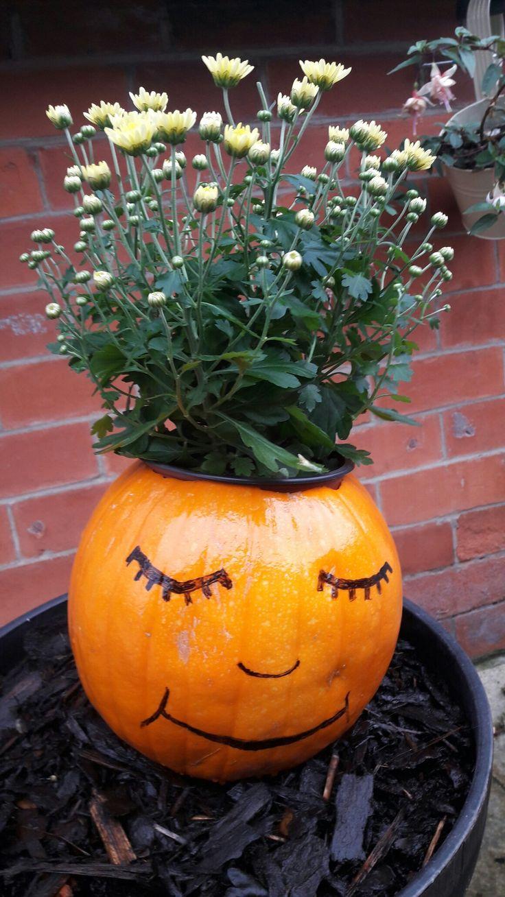 Mumkin! Chrysanthemums in a pumpkin!