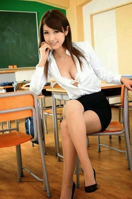 Asian Girl Long Legs & High Heels