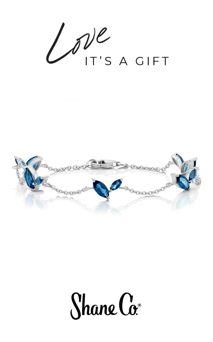 "The classic heart shape gets a modern interpretation with this unique bracelet in striking London blue topaz and silver. Ten marquise London blue topaz gemstones (approximately 3.24 total carat weight) are beautifully set in quality polished sterling silver. It's the perfect Valentine's Day bracelet, measuring 7.5"" in length, and is secured with a lobster clasp."