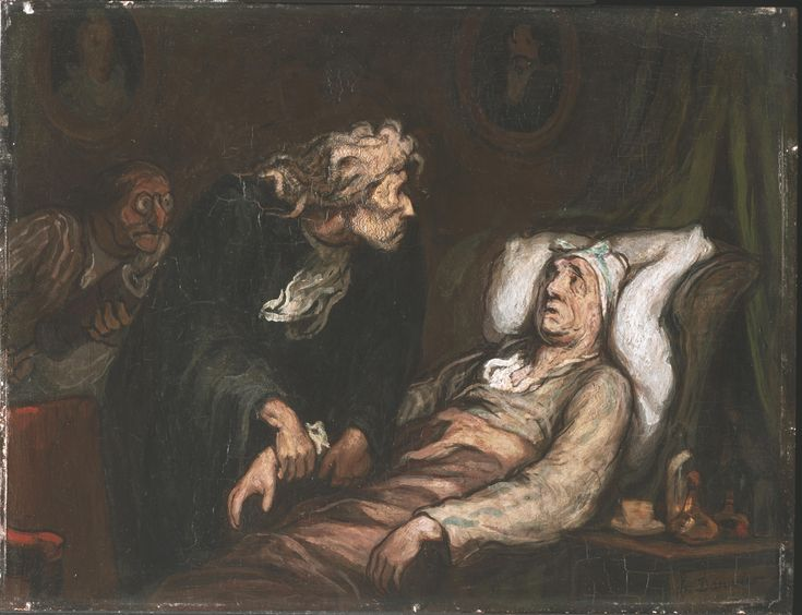 Honoré Daumier - The Imaginary Invalid (1862)