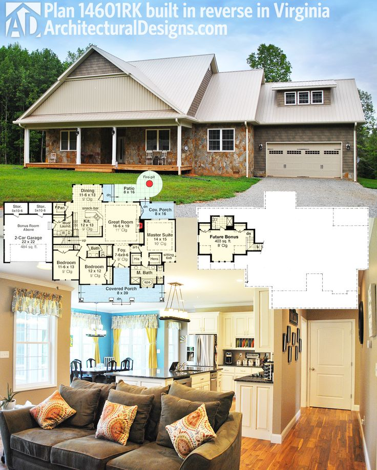 Architectural Designs House Plan 14601RK Client Built In Reverse In  Virginia. More Photos Online